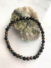 Load image into Gallery viewer, Unisex Bracelet - Hematite, Obsidian & Tiger Eye #16