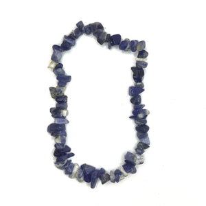 Sodalite Quartz Gemstone Chips Bracelet