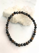 Load image into Gallery viewer, Unisex Bracelet - Hematite, Obsidian & Tiger Eye #16 - Gina's Charms
