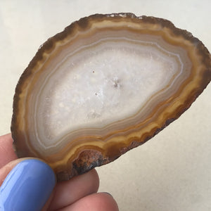 Agate Slice Mini #546 - Brown - Gina's Charms