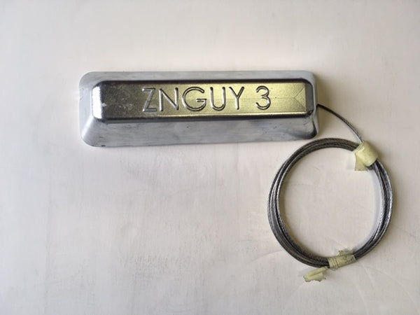 P-3 W  ZNGUY 3 Zinc Anode with 10 ft. cable BOAT LIFT