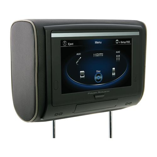 "Power Acoustik 9"" Headrest Touchscreen DVD 3 Color Skins"