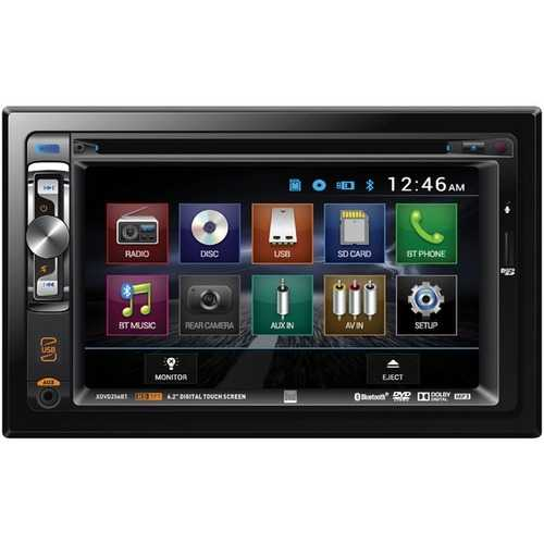 "Dual 6.2"" Double-din In-dash Dvd Receiver With Bluetooth (pack of 1 Ea)"