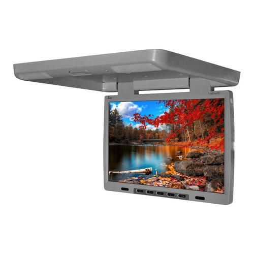 "Tview 15.4"" Flip Down Monitor with built in DVD IR/FM trans Gray"