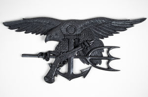 Navy Seal Trident Black Stone
