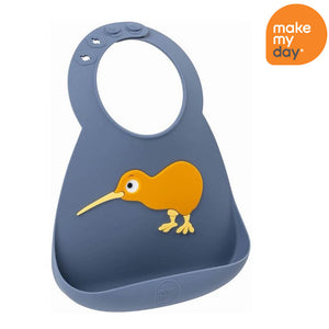 Make My Day Silicone Baby Bib - kiwi As