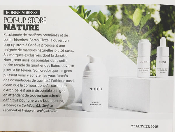 Article Archipel Pop-up Store Nature Femina