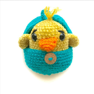 Crochet chicken with customize egg color