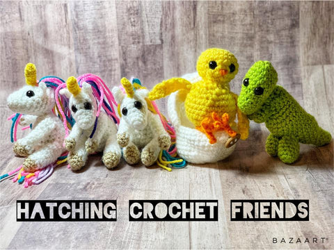 Crochet Hatching  Unicorn Friend