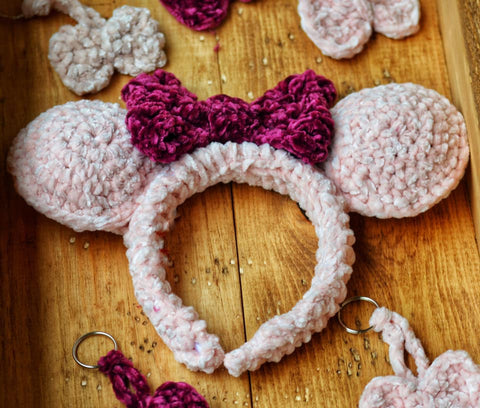 Mouse Ears Crochet Headband  | Mouse Ears Headband