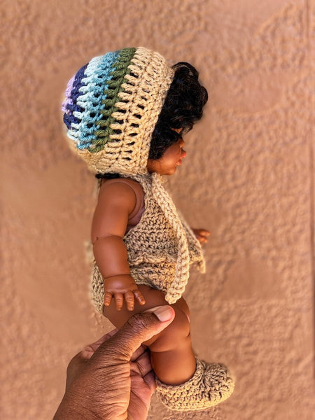 Brown  Doll Clothing Set