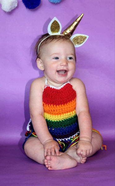 Rainbow Fringe Halter Top