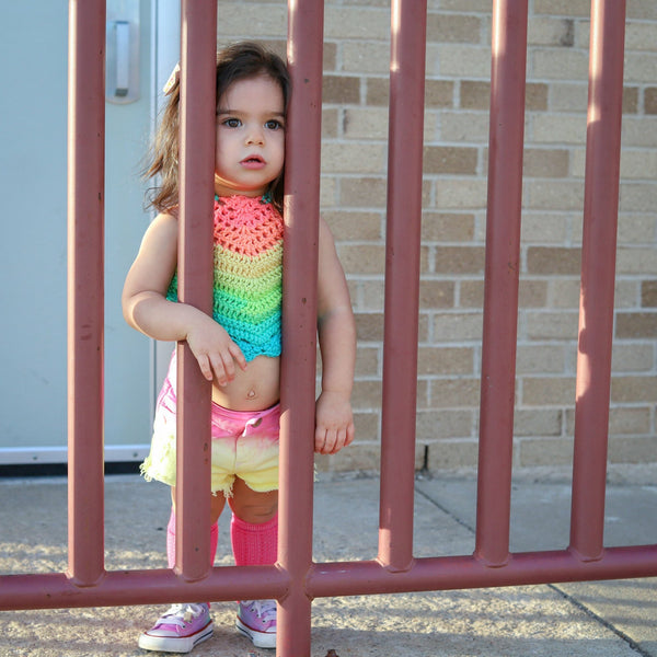 Rainbow Sherbet Halter Top