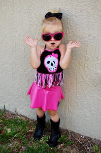 Kids Skull Halter Top
