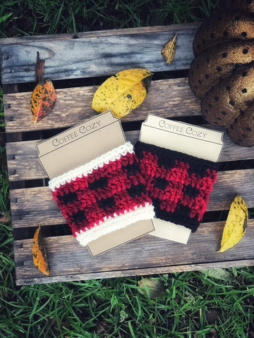 Buffalo Plaid Drink Cozy