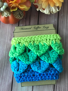 mermaid coffee cozy