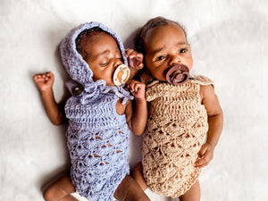 Crochet Baby Button Romper