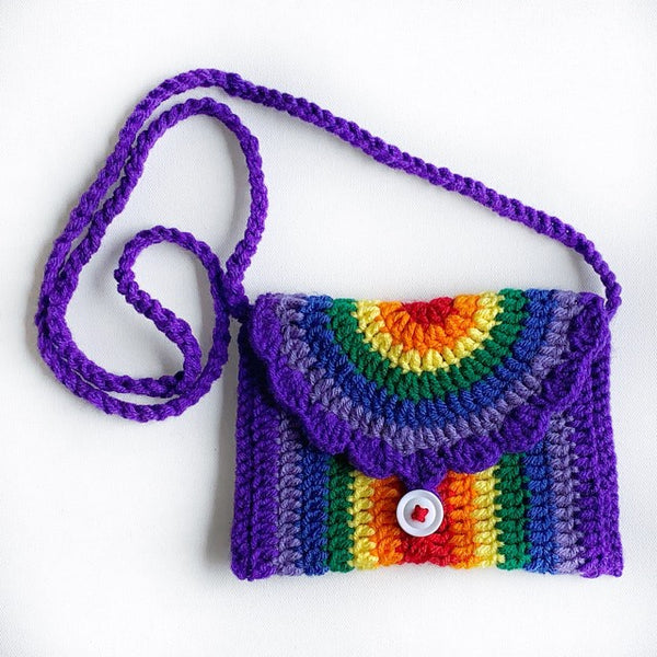 Purple Rainbow  Purse