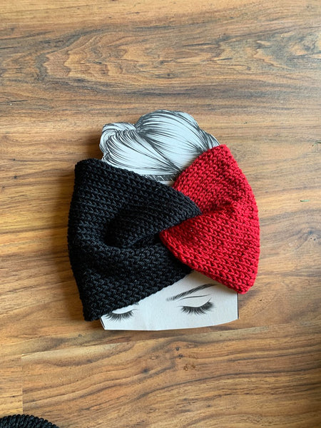 Two Tone Twisted Knit Headband