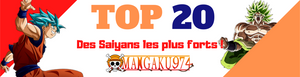 TOP 20 des Saiyans les plus fort de Dragon Ball