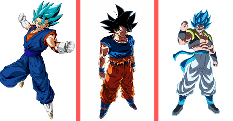 Goku UI-Gogeta Blue-Vegetto Blue