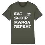 "T-shirt Unisexe ""EAT SLEEP MANGA REPEAT"" 
