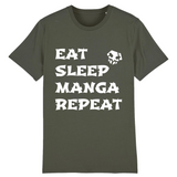 "T-shirt Unisexe ""EAT SLEEP MANGA REPEAT"" - Mangaku974"