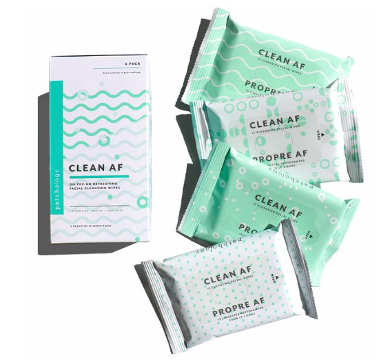 Patchology Cleansing Facial Wipes - 4 packs
