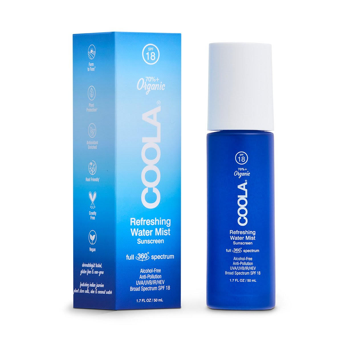 Coola Refreshing Water Mist - Full Size and Travel Size