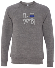 LOVE - Police Badge Crewneck (with or without badge number)