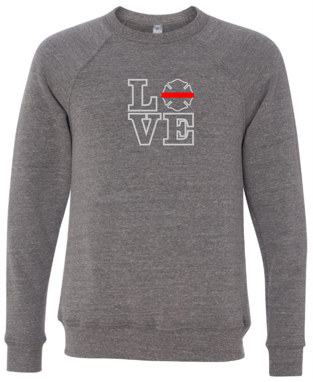 LOVE - Firefighter Badge Crewneck (with or without badge number)