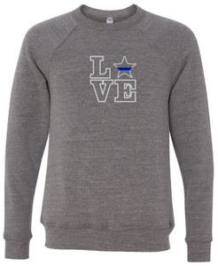 LOVE - 5 Point Star Badge Crewneck (with or without badge number)