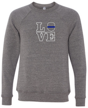 LOVE - IOWA State Patrol Badge Crewneck (with or without badge number)