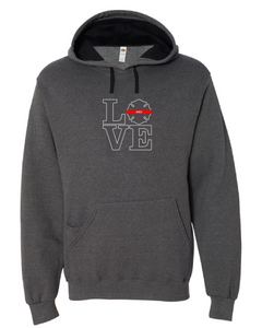 LOVE Firefighter Badge Hoodie with or without badge number