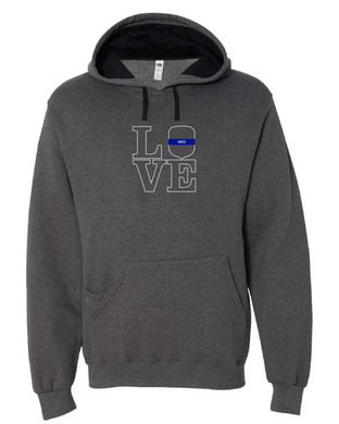 LOVE - IOWA State Patrol Badge Hoodie with or without badge number
