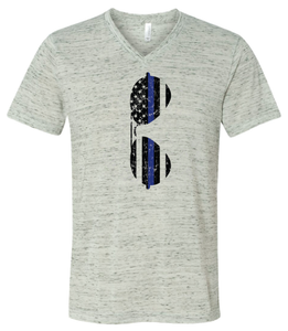 Sunglasses Blue Line Unisex V-Neck T