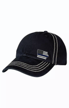 Cap - Black with Reverse Top Stitch and Iowa Emblem ADD A BADGE NUMBER