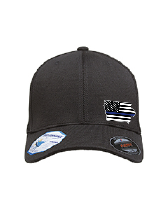 Cap FlexFit with Small Iowa Emblem Adult Cool & Dry Sport Cap