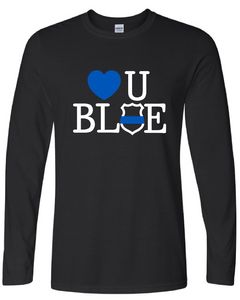 Love U Blue Long Sleeve T-shirt