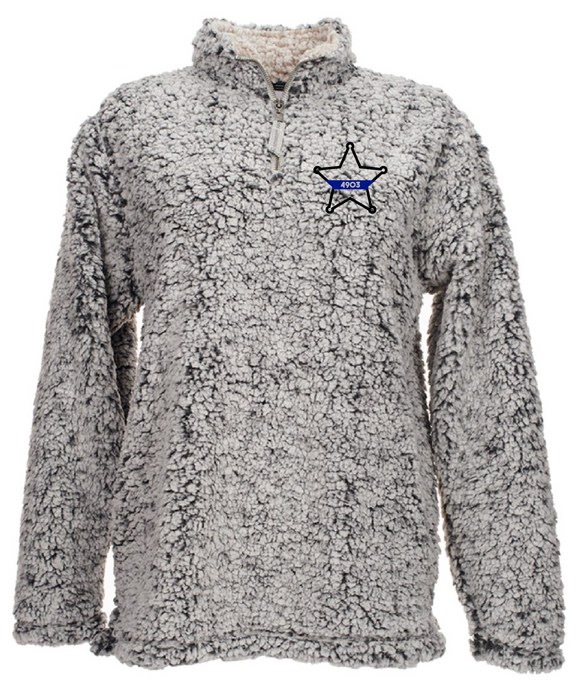Sherpa Quarter Zip - 5 Point Star with Badge Number