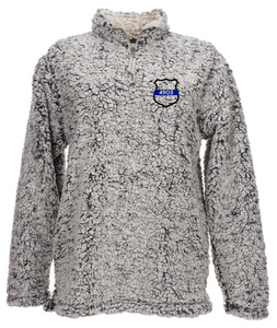 Sherpa Quarter Zip - Police Badge with Badge Number