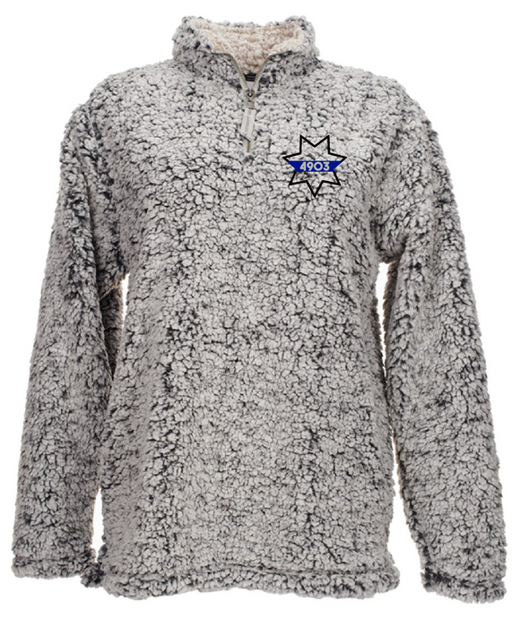 Sherpa Quarter Zip - 7 Point Star with Badge Number