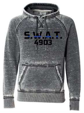 J.AMERICA Vintage Zen Hoodie with S.W.A.T. and badge number
