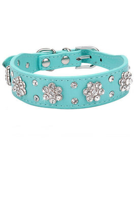 Leather bling dog collar | great dog shop - Great Dog Shop
