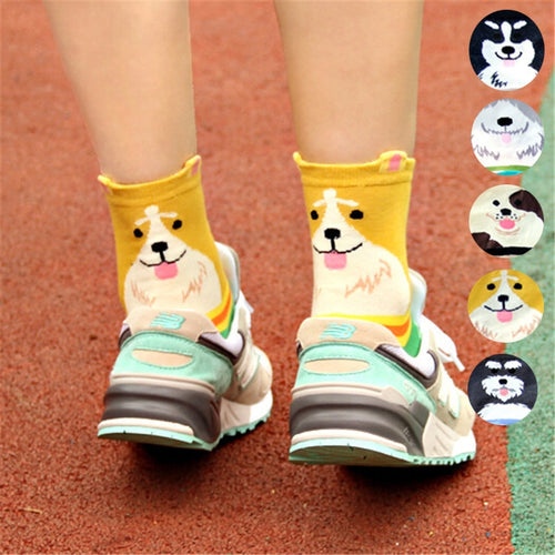 High quality women's lovely cartoon Dog Socks - Great Dog Shop