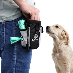 UEETEK Dog Treat Pouch Pet Hands Free Training Waist Bag Drawstring Carries Pet Toys Food Poop Bag Pouch - Great Dog Shop