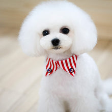 Load image into Gallery viewer, american flag dog collar / patriotic bow tie dog collar - Great Dog Shop