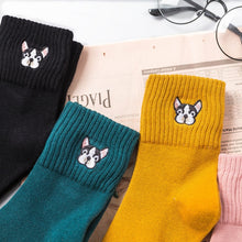 Load image into Gallery viewer, Cartoon dog embroidery cute socks - Great Dog Shop