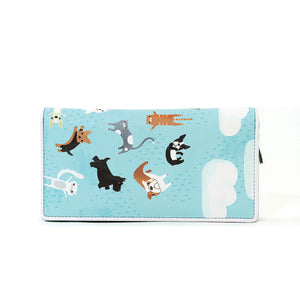 Raining Cats And Dogs Zip Around Bi-Fold Wallet - Great Dog Shop