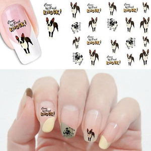 1Pcs  Dog Design Nail Art Water Sticker /Nails Beauty Wraps Polish Temporary Decal Watermark - Great Dog Shop